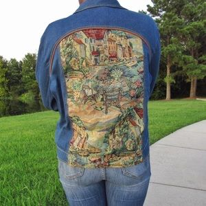Erin London Tapestry Denim Jacket XL